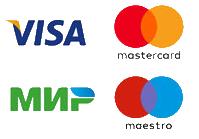 Visa, Mastercard, Maestro, МИР